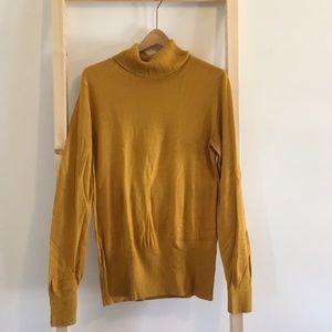 Relativity Sweaters - 3/$18 Mustard Yellow Turtleneck Sweater